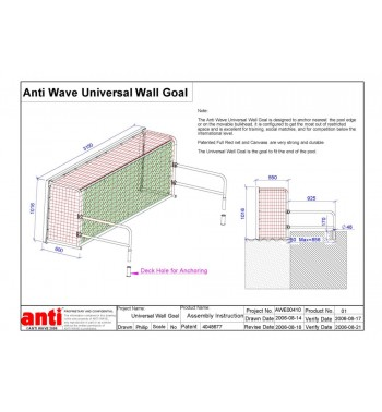 Antiwave Universal Wall Goal Fixed End Water Polo Goal